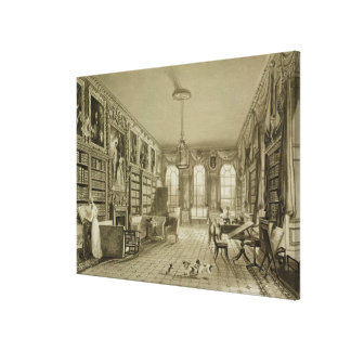 Library as Sitting Room, Cassiobury Park, c.1815, Canvas Print