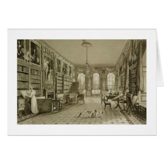 Library as Sitting Room, Cassiobury Park, c.1815, Card