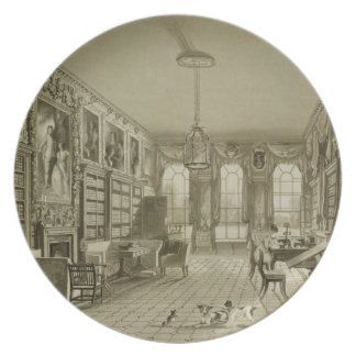 Library as Sitting Room, Cassiobury Park, c.1815, Plate