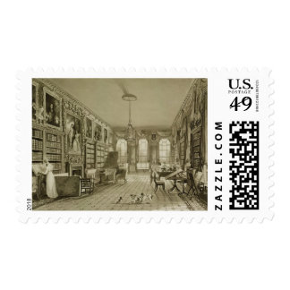 Library as Sitting Room, Cassiobury Park, c.1815, Postage Stamp
