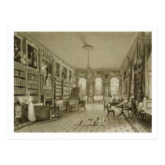 Library as Sitting Room, Cassiobury Park, c.1815, Postcard