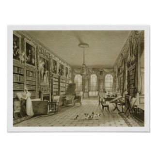 Library as Sitting Room, Cassiobury Park, c.1815, Poster