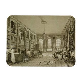 Library as Sitting Room, Cassiobury Park, c.1815, Rectangular Photo Magnet