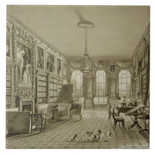 Library as Sitting Room, Cassiobury Park, c.1815, Ceramic Tile