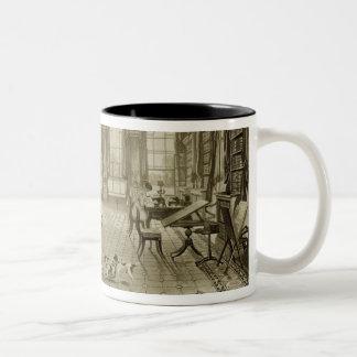Library as Sitting Room, Cassiobury Park, c.1815, Two-Tone Coffee Mug