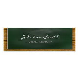 Library Assistant - Cool Blackboard Personal Double-Sided Mini Business Cards (Pack Of 20)