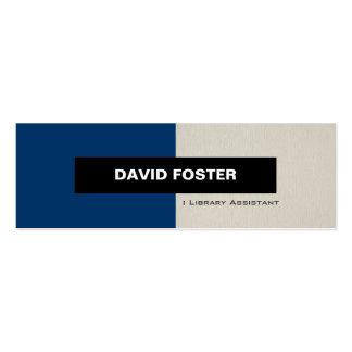Library Assistant - Simple Elegant Stylish Double-Sided Mini Business Cards (Pack Of 20)