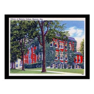 Library at Marietta College, Ohio Vintage Postcard