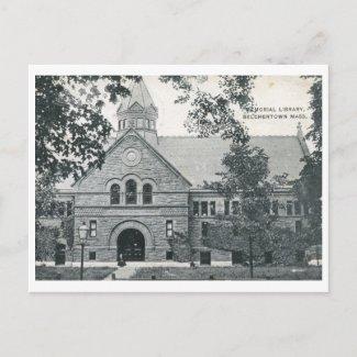 Library, Belchertown, MA 1916 Vintage postcard