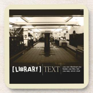 Library Beverage Coaster