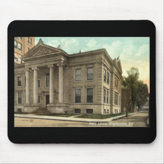 Library, Binghamton NY Vintage 1909 Mousepad