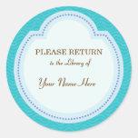 Library Blue Sticker - Please Return