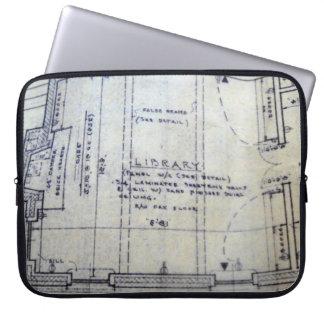 Library Blueprint Laptop Sleeve