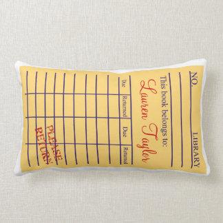 Library Book Card Pillows