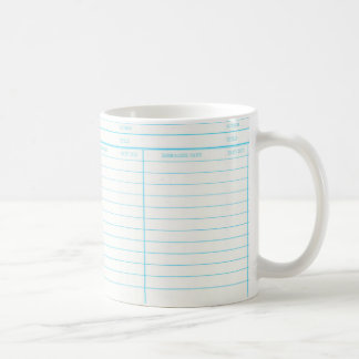 Library Book Date Due Card Coffee Mug