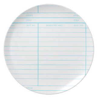 Library Book Date Due Card Melamine Plate