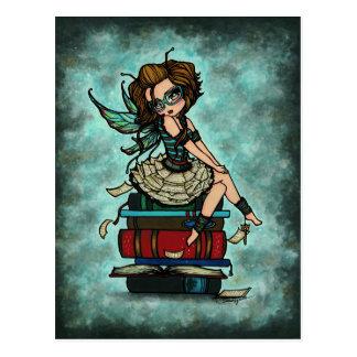 Library Book Fairy Wings Fantasy Art Postcard