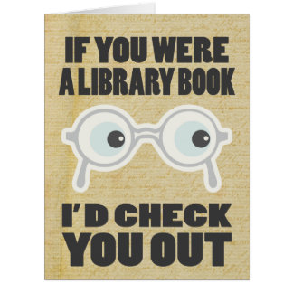 Library Book Funny Valentines Card