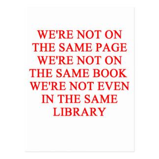 library book postcard
