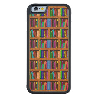 Library Book Shelf Pattern for Readers Carved Maple iPhone 6 Bumper Case