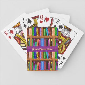 Library Book Shelf Pattern for Readers Custom Playing Cards