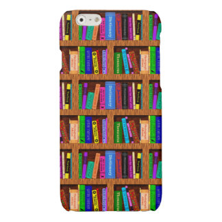 Library Book Shelf Pattern for Readers Glossy iPhone 6 Case