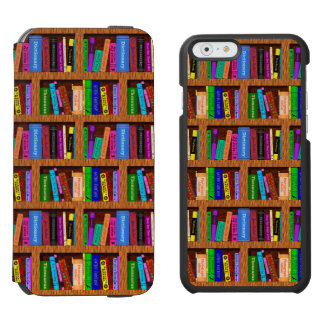 Library Book Shelf Pattern for Readers iPhone 6/6s Wallet Case