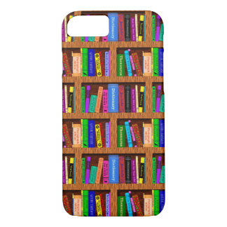 Library Book Shelf Pattern for Readers iPhone 7 Case