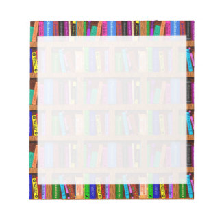 Library Book Shelf Pattern for Readers Memo Pad