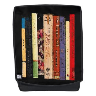 Library Book Shelves Abstract Boldface Backpack