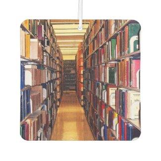 Library Book Shelves Air Freshener