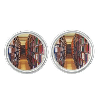 Library Book Shelves Cuff Links