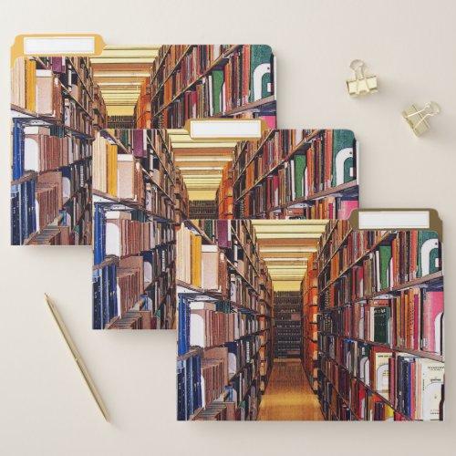 Library Book Shelves File Folder Set