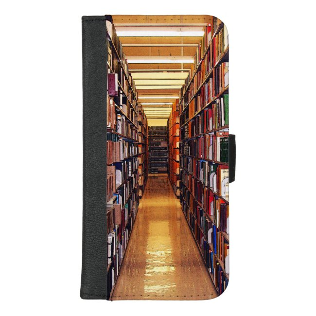 Library Book Shelves iPhone 8/7 Plus Wallet Case