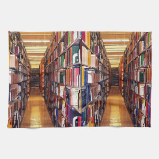 Library Book Shelves Kitchen Towel