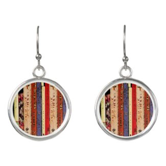 Library Books Abstract Drop Earrings