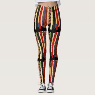 Library Books Abstract Pattern Leggings