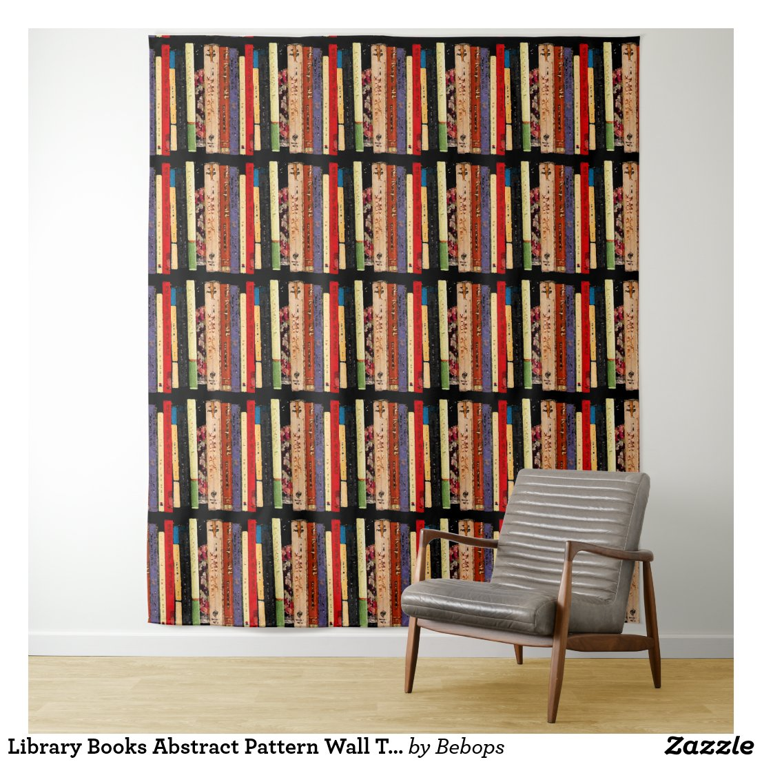 Library Books Abstract Pattern Wall Tapestry