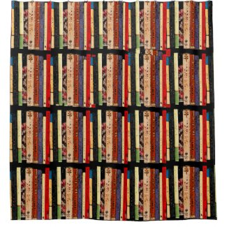 Library Books Abstract Shower Curtain