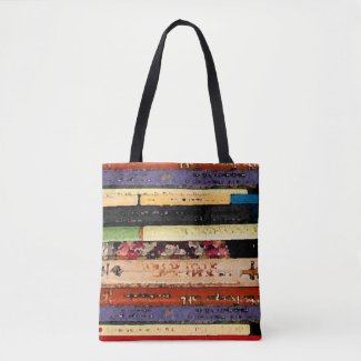 Library Books Abstract Tote Bag