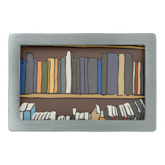 Library Books Belt Buckle