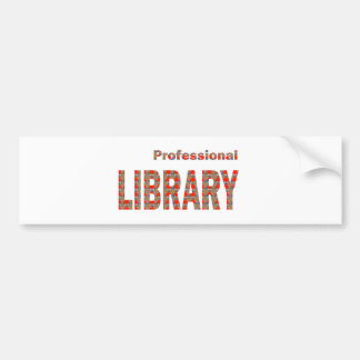 LIBRARY Books ebooks Coach Mentor Knowledge Read Bumper Sticker