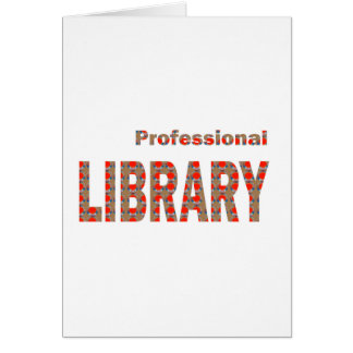 LIBRARY Books ebooks Coach Mentor Knowledge Read Greeting Card