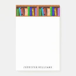 Library Books English Teacher Writer Personalized Post-it Notes