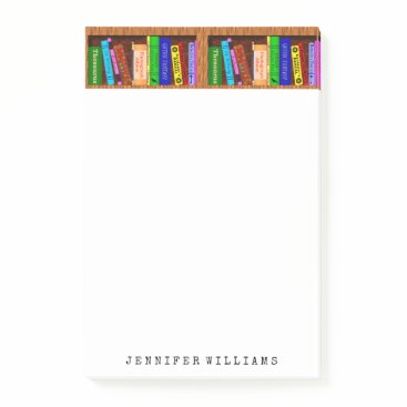 BookParadise Library Books English Teacher Writer Personalized Post-it Notes