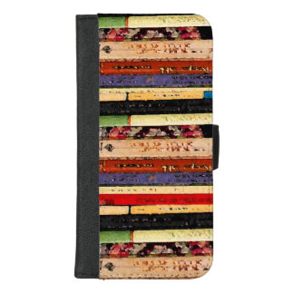 Library Books Pattern iPhone 8/7 Plus Wallet Case