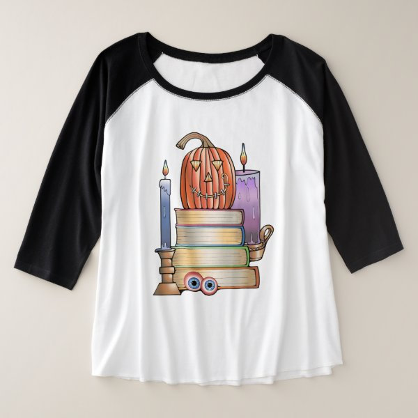 Library Books Plus Size Raglan T-Shirt