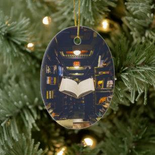 35 beautiful DIY handmade Christmas ornaments |Library Book Ornaments