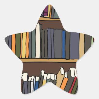 Library Books Star Sticker