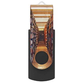 Library Books Swivel USB 2.0 Flash Drive